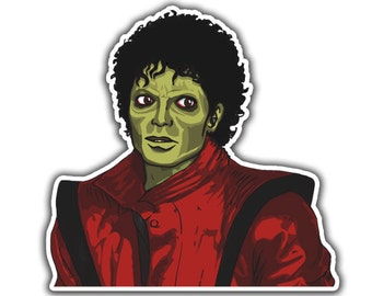 Michael Jackson Sticker - Zombie Thriller