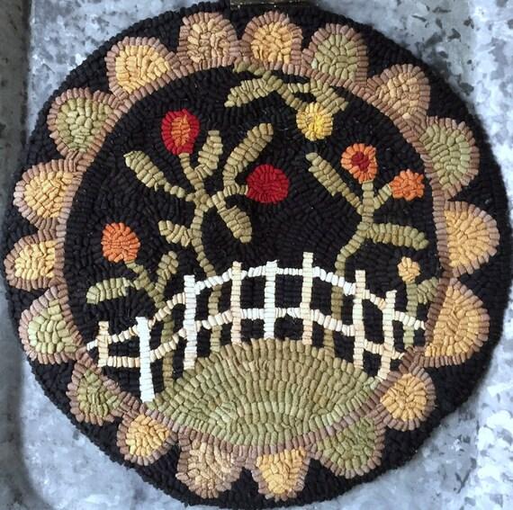 Rug Hooking Pattern/Chair Pad/Flower Garden/Hooked Rug Pattern