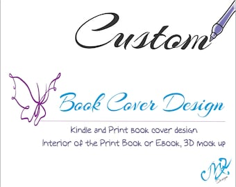 Custom Book Cover Art, Professional Kindle Book Cover, Ebook Cover, Book Art, Kindle Design, 3D Book Image for Advertising