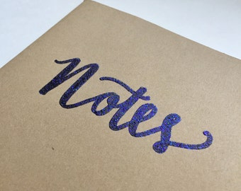 Embossed Moleskine Notebook