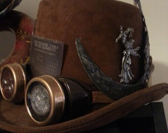 """Steampunk Tophat """"Merlin's Astronomer"""""""
