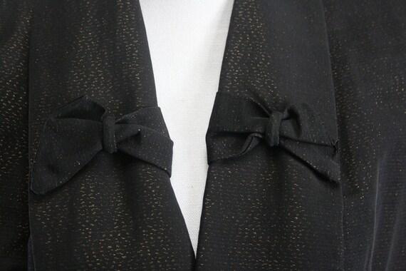 "1960s M/L SIDNEY Sernack copper flecked black opera coat 44"" Bust"