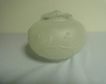 Vintage Frosted Glass Light Fixture Cover