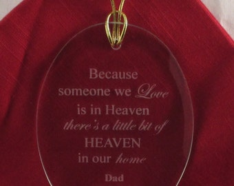 Personalized Etched Christmas Ornament-Memorial-Gift-