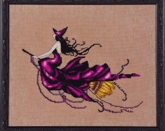 Nora Corbett's Eva Cross Stitch Pattern from the Bewitching Pixie Series