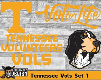 Tennessee Volunteers - SVG Cut File, Vinyl Cutter, Vector Art, Digital Download, Instant Download