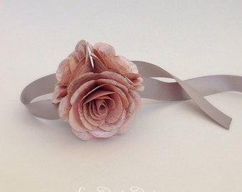 Book Page Corsage - ANY COLORS, Paper Corsage, Book Page Wedding, Book Page Wedding Corsage, Book Wedding, Literary Wedding