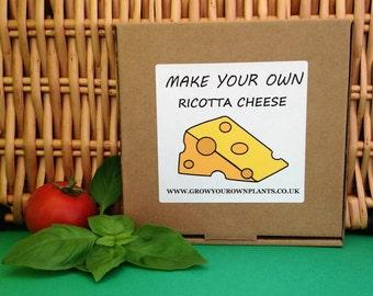 Make Your Own Homemade Ricotta Cheese Kit - Mini Cheese Making Kit