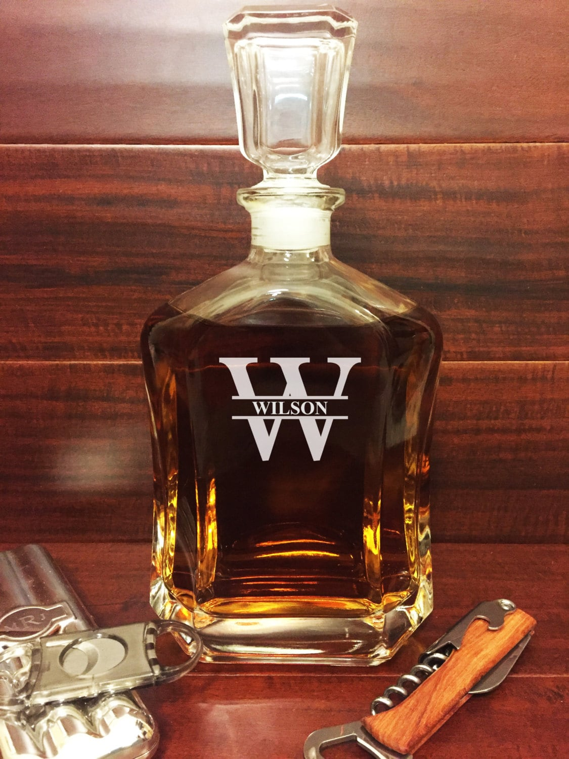 Engraved Decanter Personalized Whiskey Decanter Custom