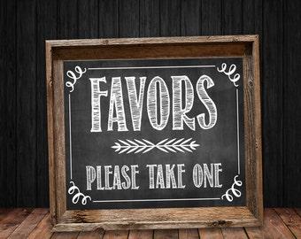 Chalkboard Favor Sign - Instant Digital Download