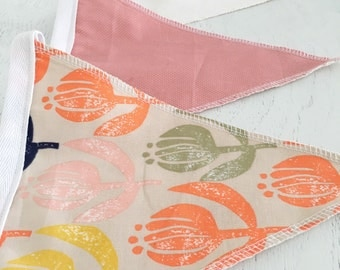 Summer blooms girls bunting