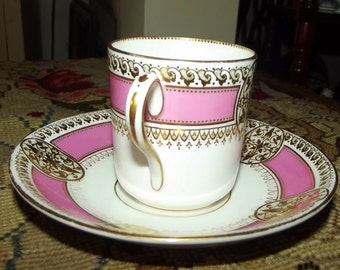 19th century French Porcelain Cup and Saucer
