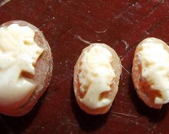 Loose miniature three cameo shell