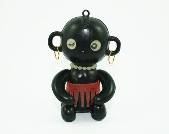 Vintage Winky Doll, Vintage Dakkochan Doll, 1960s Japanese Phenomenon, Dakko-chan Doll, Winky Blinky Doll, Politically Incorrect Doll