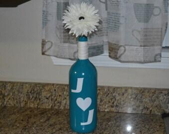 Couple Monogram Wine Bottle