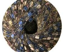 Berlini Metallic Ladder Yarn #60 Blue Saddle, Ribbon Ladder Yarn, Trellis Ladder yarn, trellis yarn, ladder yarn, Glitz, Sparkle (647)