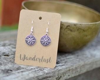 "Shop ""compass charm"" in Earrings"