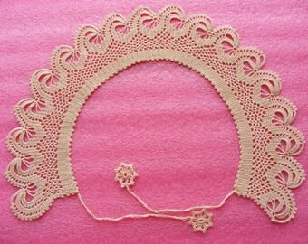 1980s Vintage Detachable  collar - Crochet Collar lace