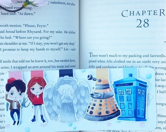 Timey Wimey  Magnetic Bookmarks