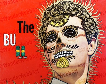 5x5 Senor Holly El Matador (Buddy Holly The Matador) Sugar Skull Day of the Dead Dia De Los Muertos Art Print
