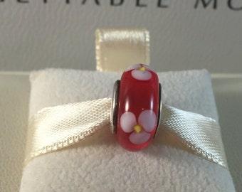 Pandora Red Flower Murano