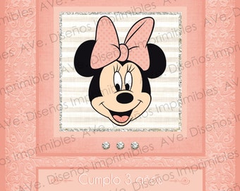 Minnie Mouse invitations, Minnie Mouse Party, Minnie Mouse Birthday