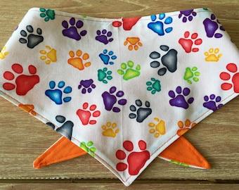 Gorgeous Paw Print Dog Bandana.