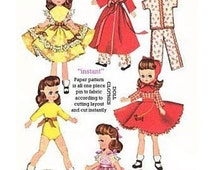 "Instant PDF Download Vintage Sewing Pattern to make Clothes for 7.5"" - 8"" Dolls like Tiny Betsy McCall,Miss Ginger,Riley,Tiny Ann Estelle,"