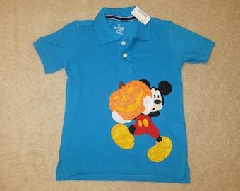 Mickey with HALLOWEEN PuMPKIN Custom Boutique T SHIRT Tee PoLO