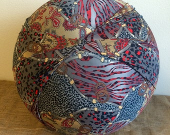 Birth Ball Cover with Handle, Exercise/Yoga Ball Cover, Birthing Ball Cover, Ball Cover - ANIMAL/COWBOY -Birth ball cover ONLY