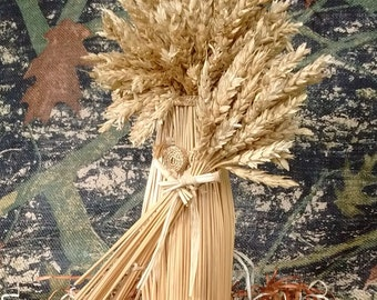 Demeter, Goddess of the Harvest - Wheat Weaving - straw art - corn dolly - rustic - goddess figure, Lammas, folk art, pagan, mythology