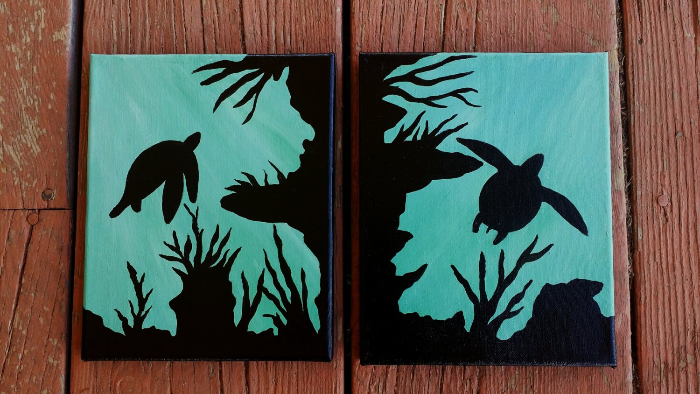 Acrylic Turtle Painting