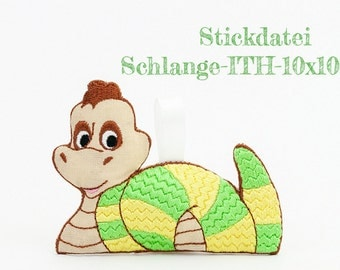 Embroidery file snake-ITH-10 x 10