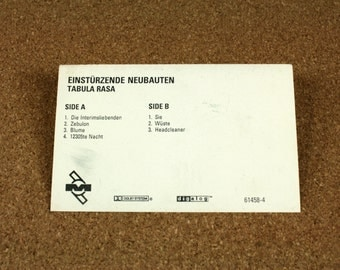 Einsturzende Neubauten - Tabula Rasa Cassette Tape - US Recording - Mute Records - Vintage Music - Very Good Condition