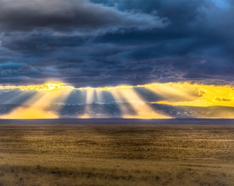 Landscape Photography -  Colorado Sunset Over the Plains | Colorado Mountains | Canvas and/or Print