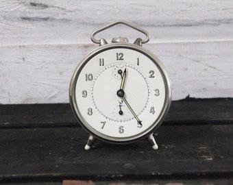 Industrial Style Vintage JAZ Silver Clock – Functional