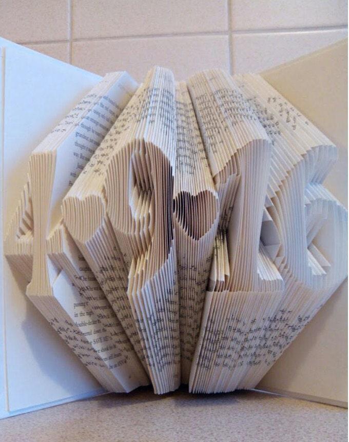 Paper Art Wedding Gift : Folded Book Art Personalized Gift by HappyFoldedBooks on Etsy