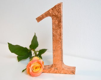 3D Gold Leaf Table Numbers