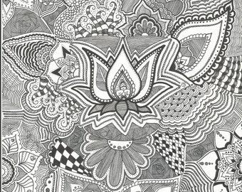 Lotus Flower original by jetsmokeee