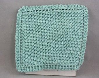 dishcloths, cotton dishcloths, hand knit dishcloths, knit dishcloths, washcloths, hand knit washcloths, knit washcloths, aqua dishcloths