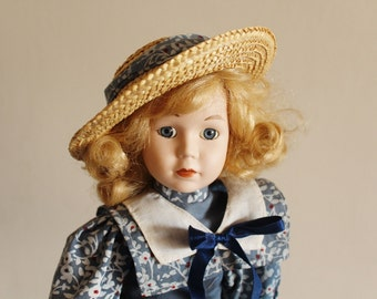 NEW PRICE Vintage doll, bisque face doll, collectible doll