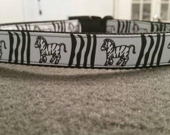"""1"""" Zebra Collar"""