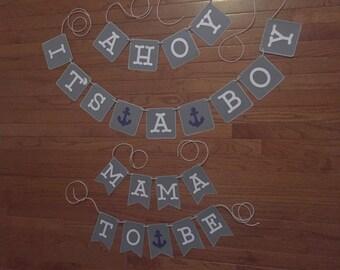 Ahoy its a boy banner