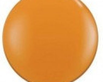 Giant Mandarin Orange Balloon, Jumbo 90cm Balloon, Jumbo 3FT Balloon, Party Balloon, Halloween Balloon, Dinosaur Party, Tropical Party