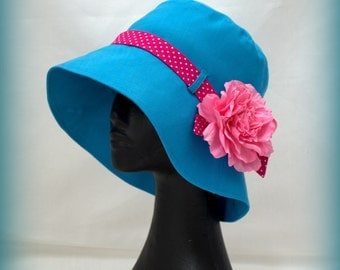 Hat with rose