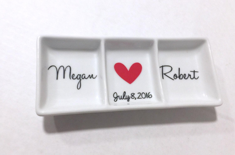 Personalised Wedding Gift Ring Dish : Personalized Ring Dish Engagement gift Wedding gift Bridal