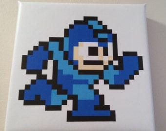 NES 8bit canvas MegaMan Running