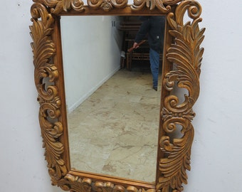 Theodore Alexander French Filigree Carved Louis XV Wall Hall Console Mirror