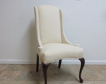 Vintage Queen Anne End Of The Table Dining Room King Chair Cherry