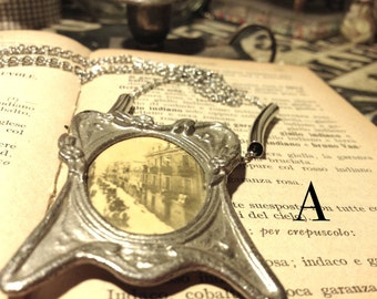 Memory Frame * by by Cagliari, Photo, Cagliari, Sardinia, Italy, Necklace, Siver, Jewerly, Relics, 1920, Antique